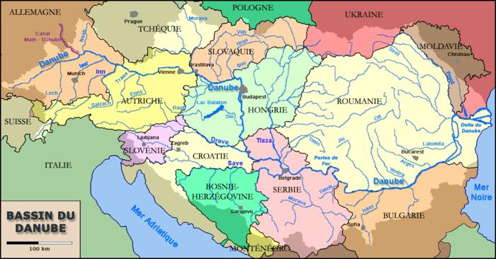 Carte Roumanie Bulgarie.Les 10 Pays Riverains Du Danube Un Fleuve Frontiere Et