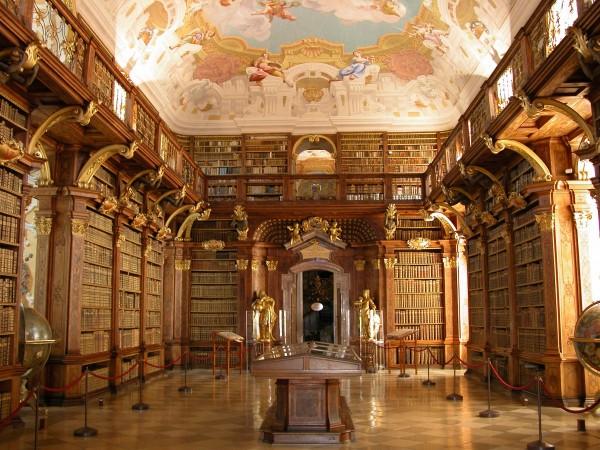 Danube_les hommes_Abbayes de Melk, bibliothèque