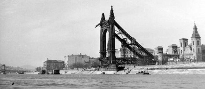 Le pont Élisabeth en 1946