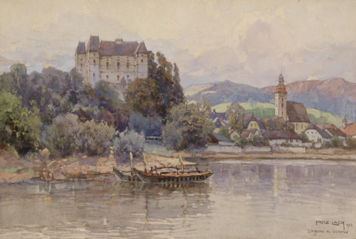 Fritz_Lach_Blick_auf_Grein_an_der_Donau_1916