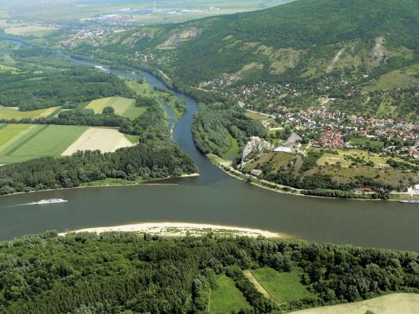 La Morava, le Danube et Devin_Slovaquie-Autriche