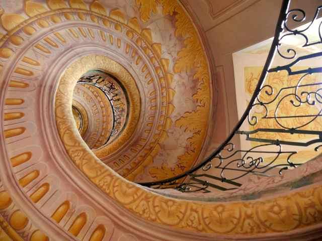 L'escalier de la bibliothèque de Melk