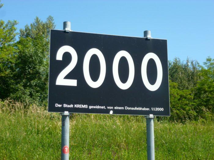 Le point kilométrique 2000, en aval de Krems