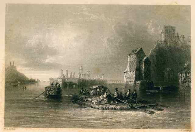 Vue de Passau avec bateaux Bartlett