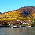 Le Danube et des montagnes